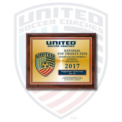 2017 United Soccer Coaches Poll Plaques